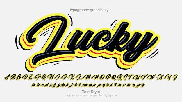 Black and yellow modern graffiti text effect