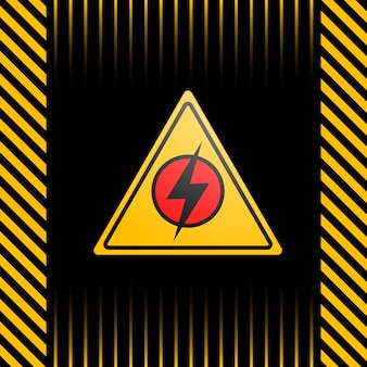 Black and yellow poster with a warning about a power outage
