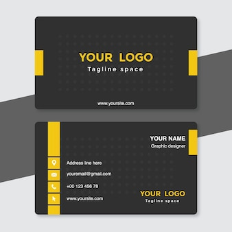 Black and yellow visiting card template