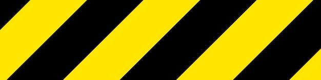 Black and yellow warning sign vector illustration