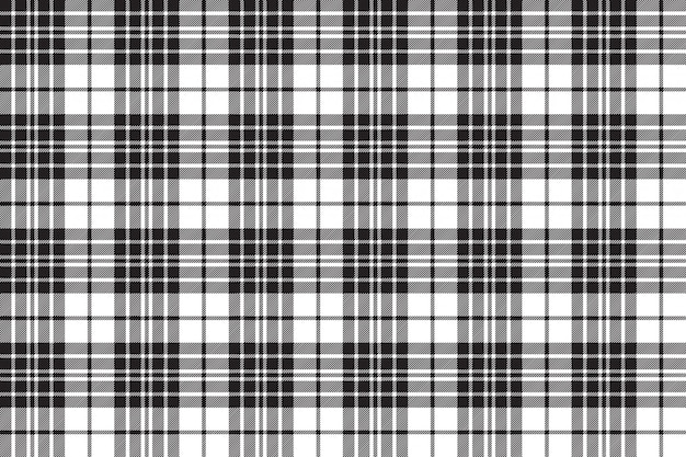 Blackberry clan tartan diagonal black white seamless pattern