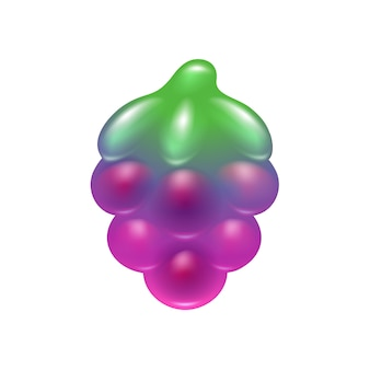 Blackberry jelly candy icon.