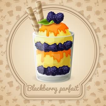 Blackberry parfait illustration