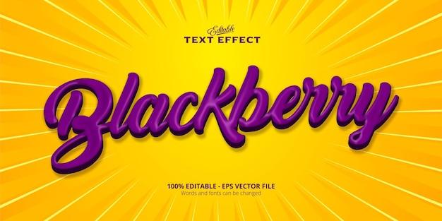 블랙 베리 텍스트, 편집 가능한 텍스트 효과