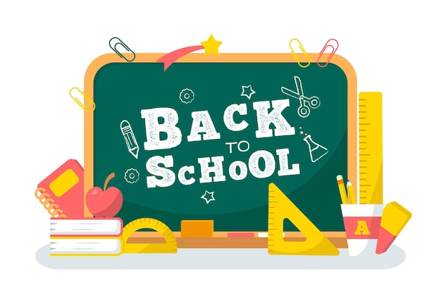 Blackboard back to school background design