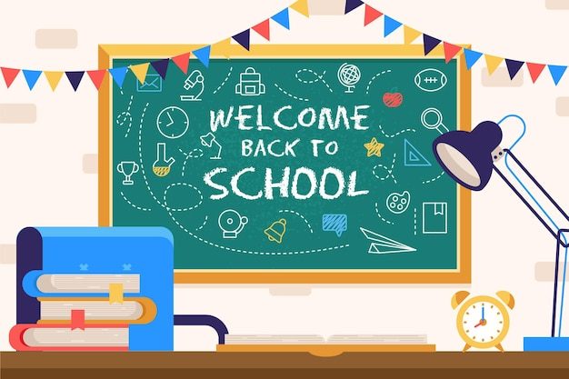 Blackboard back to school background