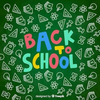 Blackboard back to school background
