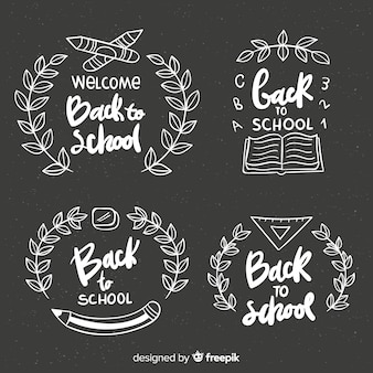 Blackboard back to school badge collection