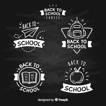 Blackboard back to school badge collection