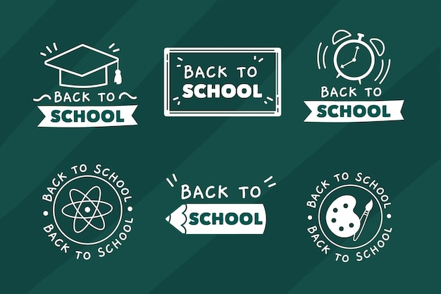 Blackboard back to school badges