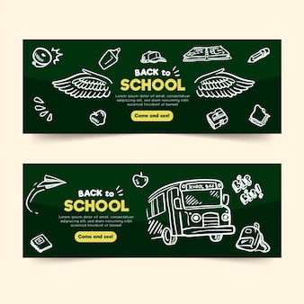 Blackboard back to school banners