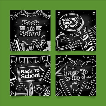 Blackboard back to school instagram post collection