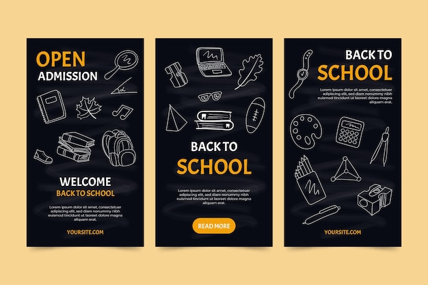 Blackboard back to school instagram stories