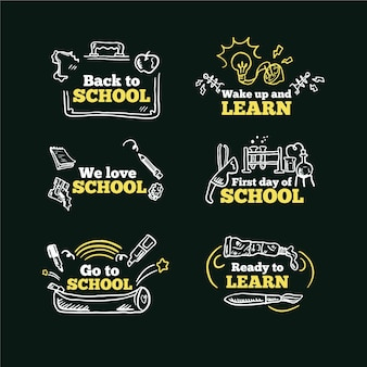 Blackboard back to school labels