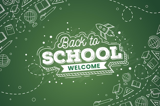 Blackboard back to school wallpaper design