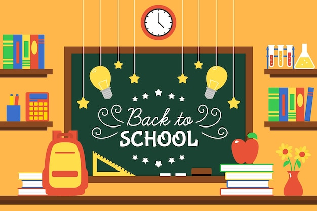 Blackboard back to school wallpaper theme