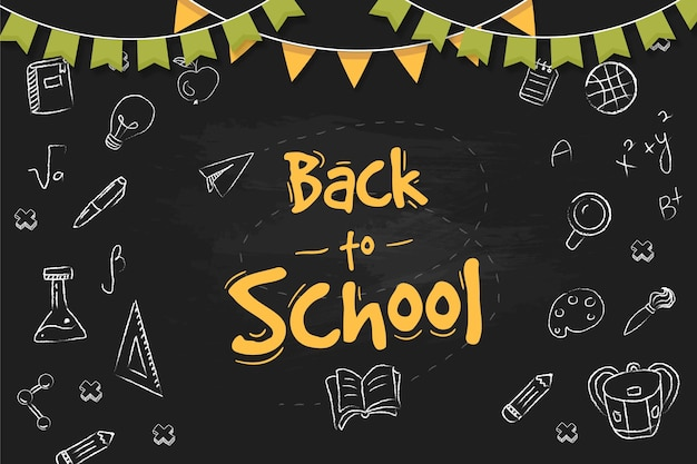 Blackboard back to school wallpaper