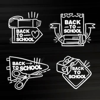 学校のバッジのテーマに戻る黒板
