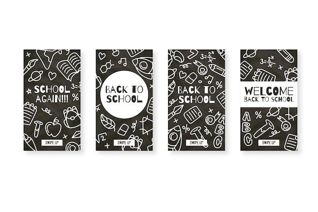 学校のinstagramストーリーに戻る黒板