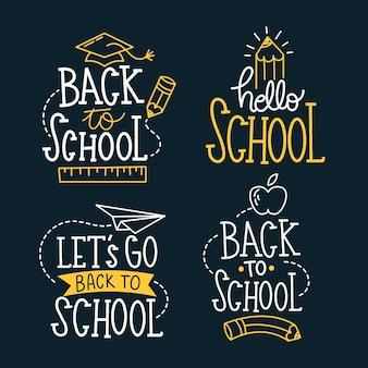 黒板の学校ラベルコレクションに戻る