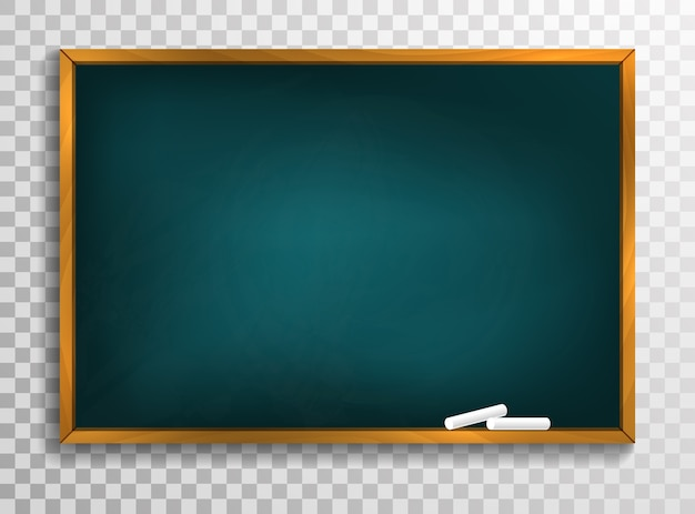 Blackboard background and wooden frame, rubbed out dirty chalkboard