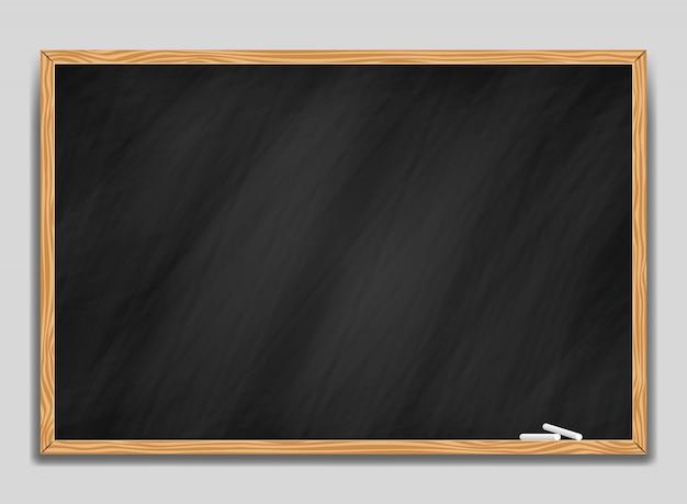 Blackboard background and wooden frame