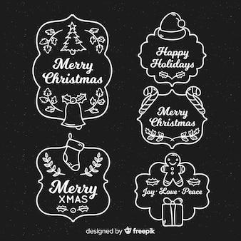 칠판 크리스마스 라벨 컬렉션