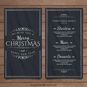 Blackboard christmas menu