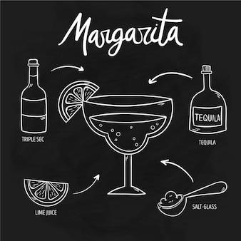 Blackboard cocktail recipe