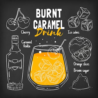 Blackboard cocktail recipe