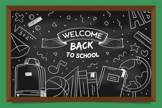Blackboard design back to school background