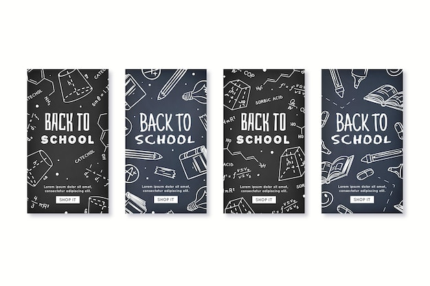 Blackboard design school instagram stories