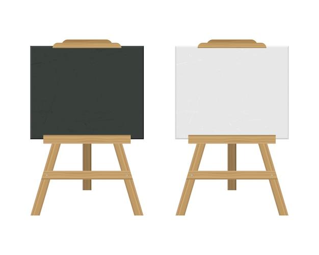 Blackboard easel  illustration isolated on white background