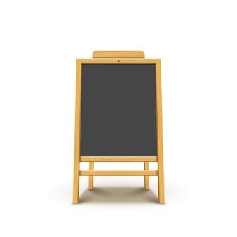 黒板イーゼル木製メニュー。
