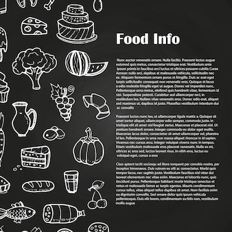 Blackboard food advertising template