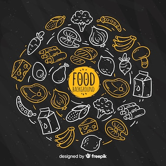 Blackboard food background