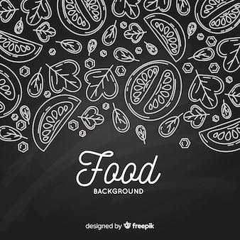 칠판 음식 배경