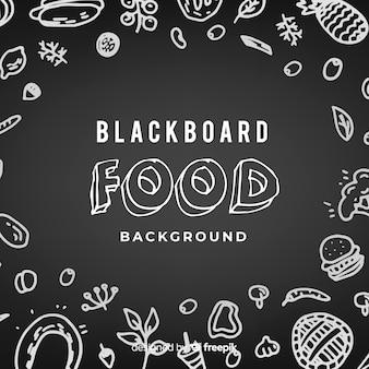 Blackboard food background