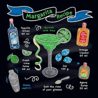 Blackboard margarita recipe