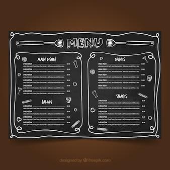 Blackboard menu template