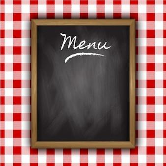 Blackboard of menu