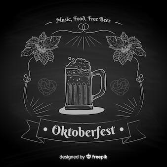 Blackboard oktoberfest background