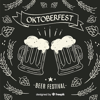 Blackboard oktoberfest beer mugs