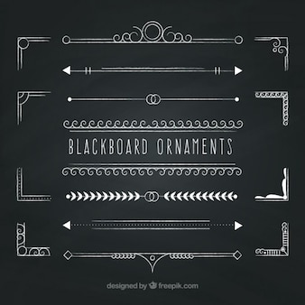 Blackboard ornaments