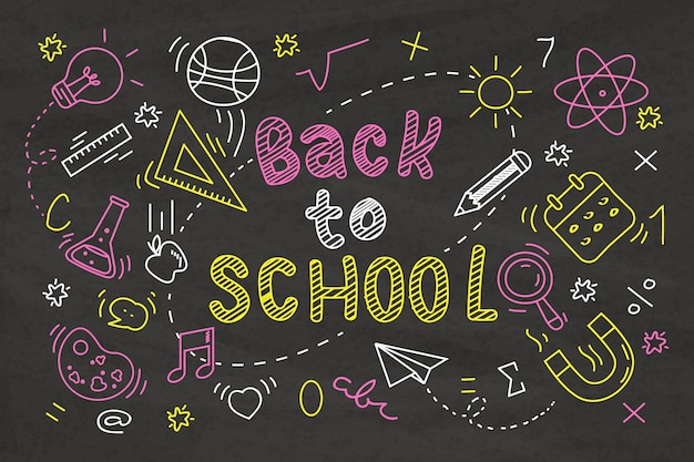 Blackboard school background concept