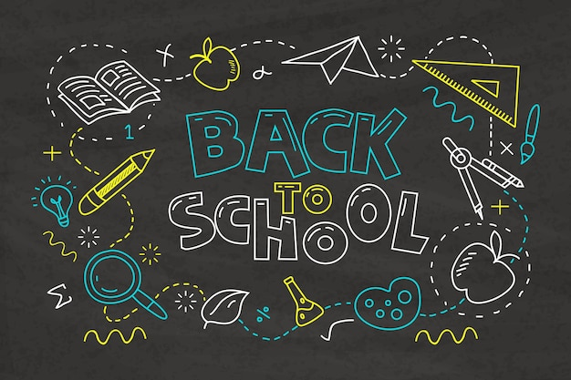 Blackboard school background design