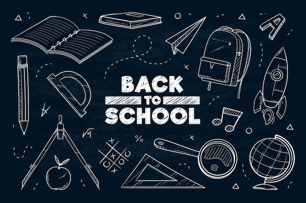 Blackboard school background design