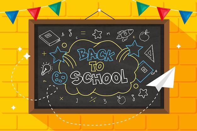 Blackboard school background style