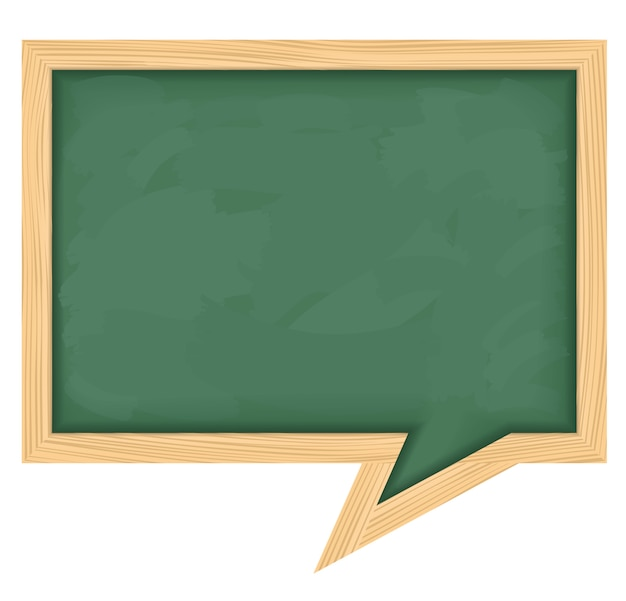 Blackboard shaped as speech bubble