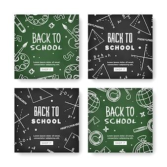 Blackboard style school instagram posts